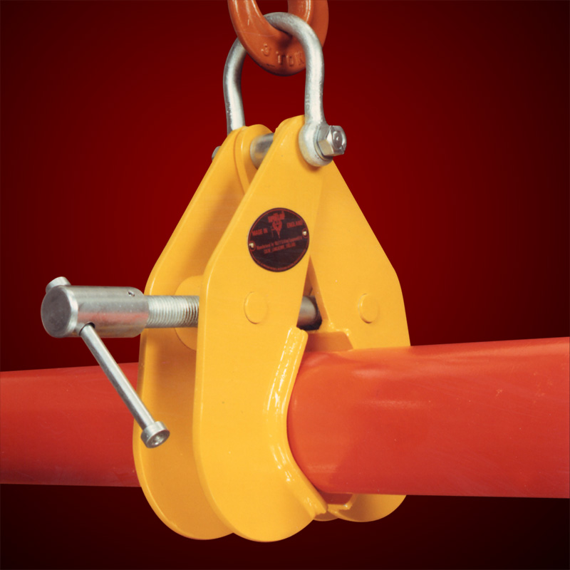 ADJUSTABLE PIPE AND ROUND SECTION LIFTING CLAMPS