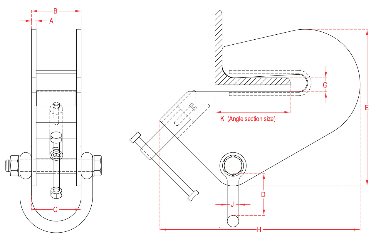 Adjustable Angle Section Clamps