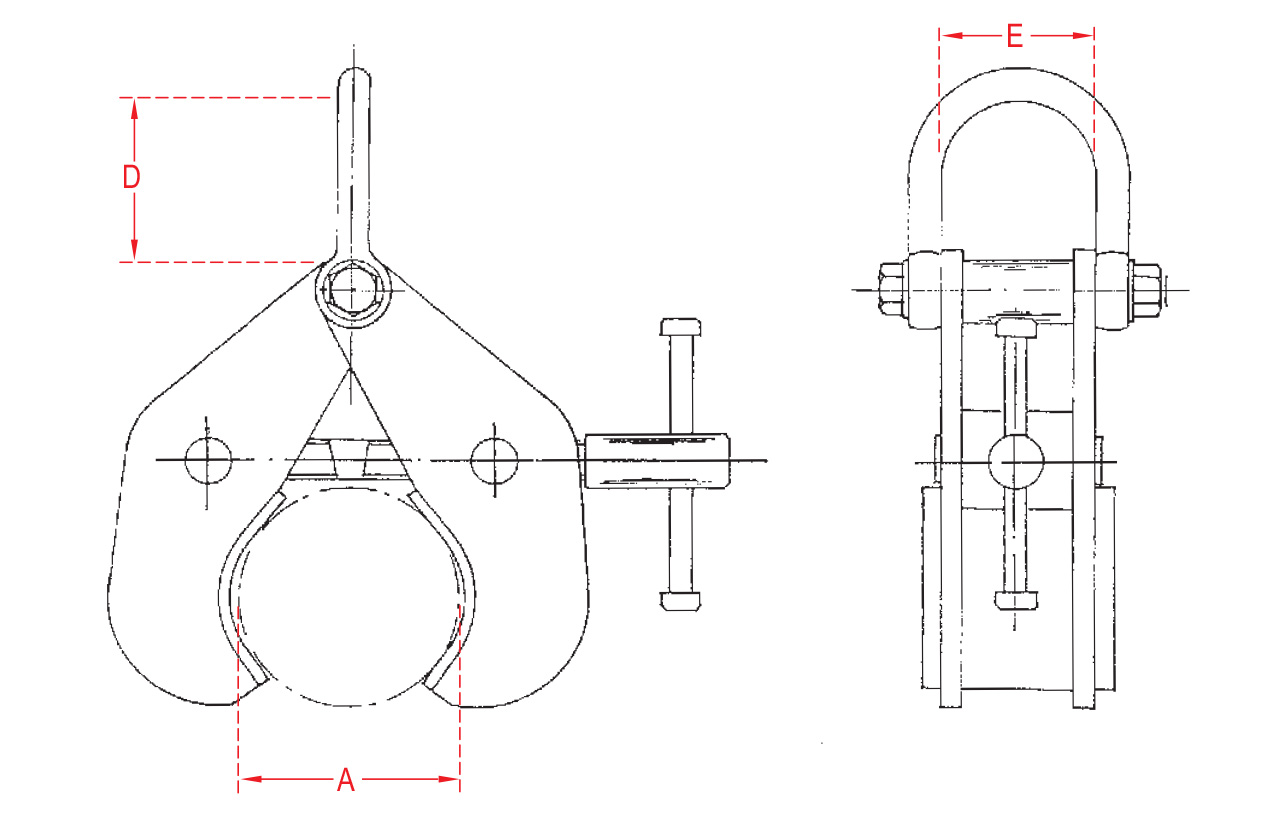 Adjustable Pipe And Round Section Clamps